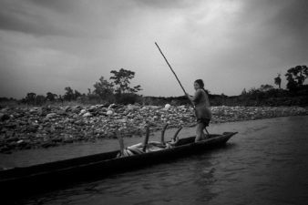 Ecuador-Woman-on-Boat-001-BW